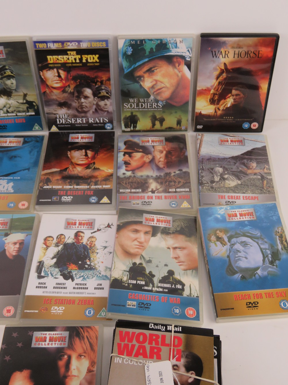 A quantity of Military / War themed dvds. - Image 6 of 9