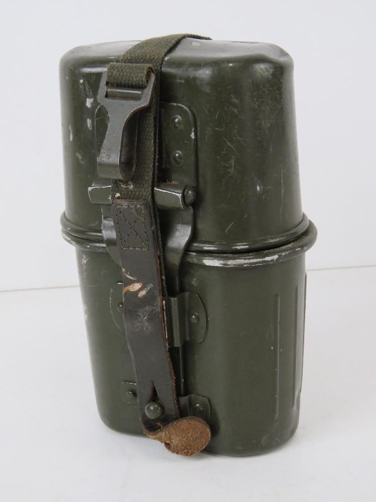 A post war German mess tin assembly with straps.