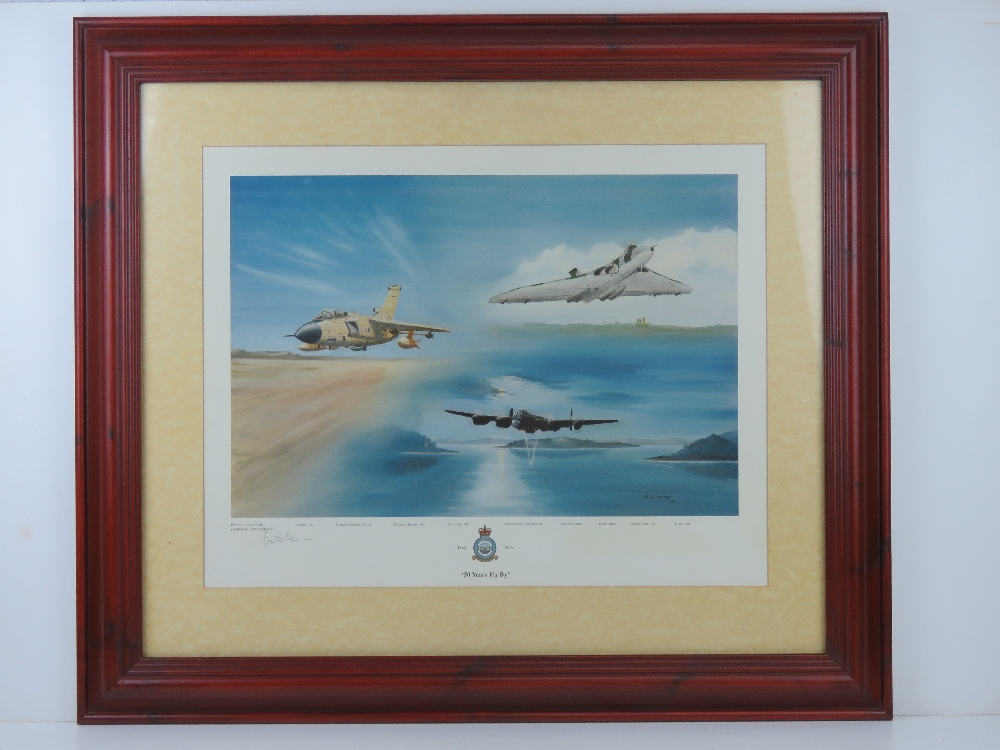 Signed print '50 Years Fly By' from an original oil painting by John Larder,