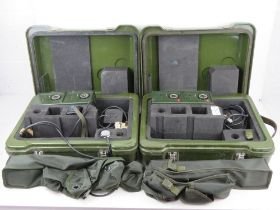 Two British Military PD4-M detector kits in transit cases with accessories.