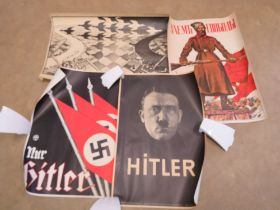 Six reproduction posters, being copies of WWII Russian, German and British posters and works of art.