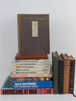 A quantity of assorted military themed books inc: 'Jan Christian Smuts', 'The March of History',