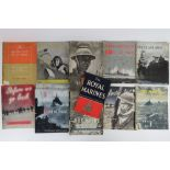 A quantity of WWII themed books inc; 'The Royal Marines', 'Artic War', 'Ark Royal' etc,