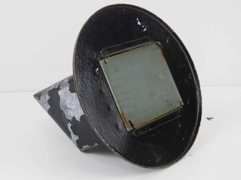 A WWII US headlamp blackout cover for a lorry. 20cm dia. - Image 2 of 2