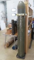 An inert Soviet 9M14 Malyutka missile in transit case.
