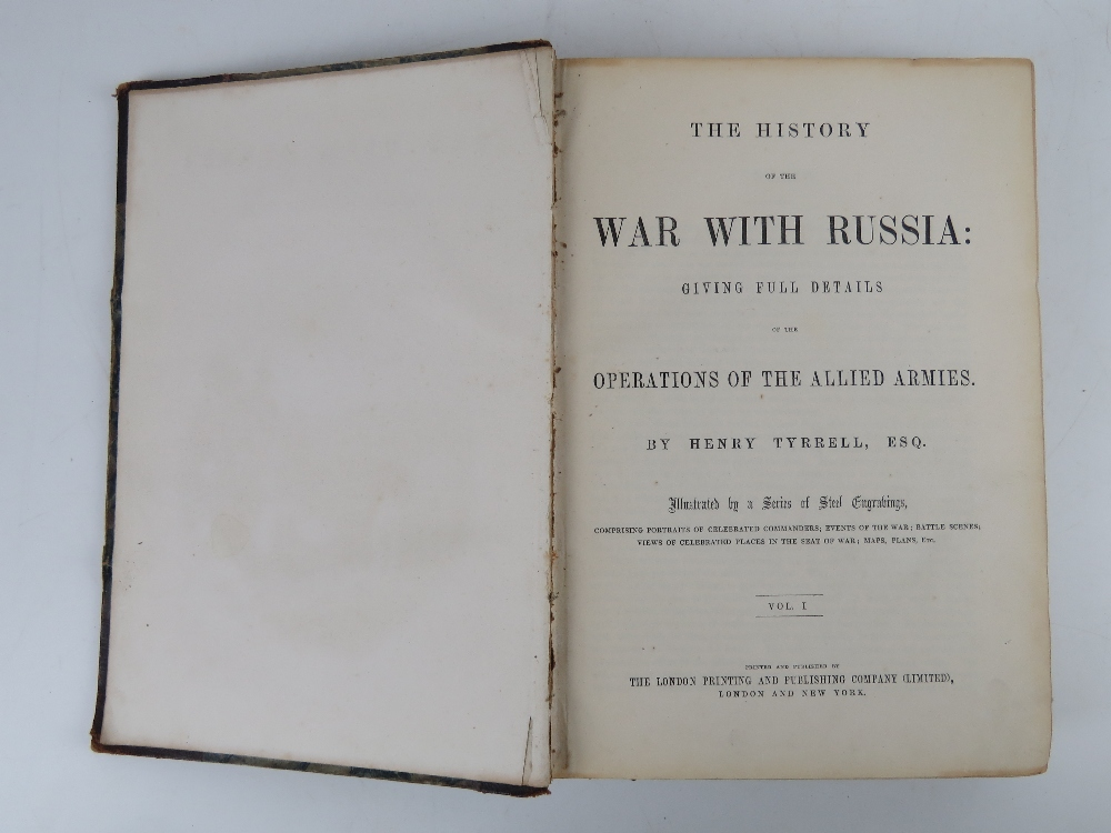 Books; 'History of the War With Russia' in two volumes, half leather bound, by Henry Tyrrell Esq, - Image 2 of 2