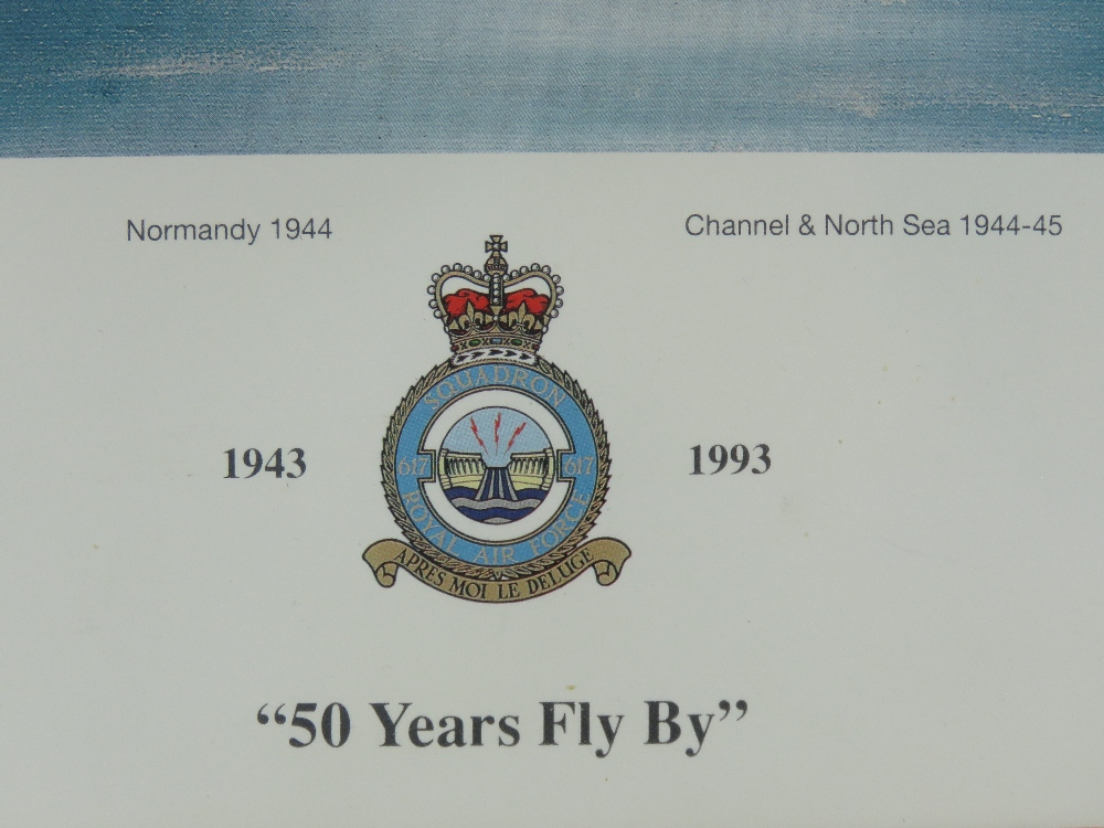 Signed print '50 Years Fly By' from an original oil painting by John Larder, - Image 4 of 4