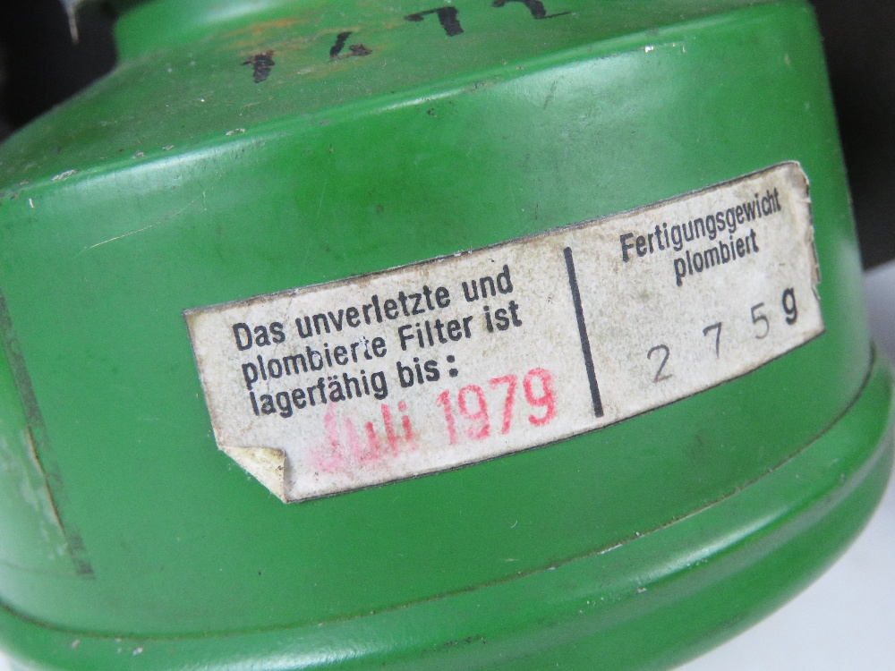 Three German Bundeswehr Draeger/CTG-RA gas masks with filters in carry cases. - Image 4 of 5