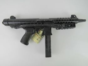 A deactivated Star Z70 9mm Sub Machine gun with moving bolt (under spring pressure),