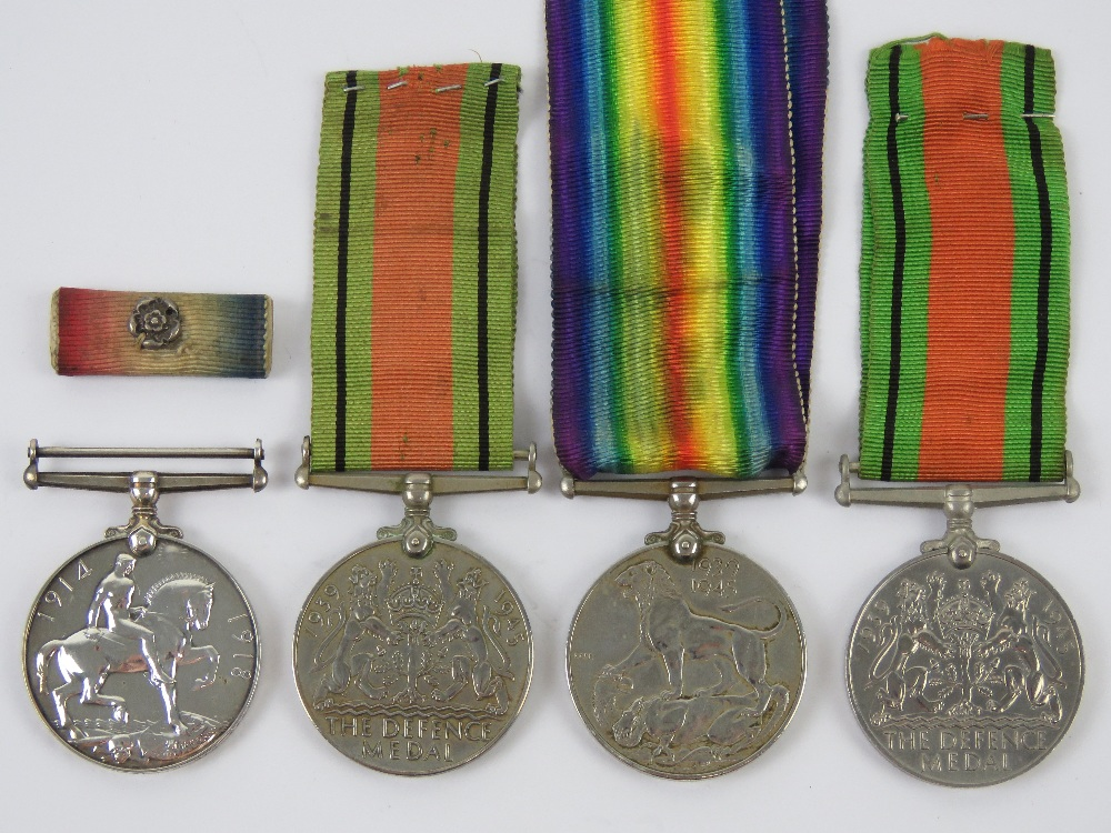 Two WWII medal pairs, each being War & Defence medals, one war medal engraved for 029373 PTE.R. - Image 2 of 6