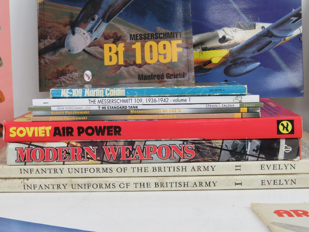 A quantity of assorted military themed books inc: 'Messerschmitt 109', 'Me 109- T-90 Standard Tank', - Image 2 of 2