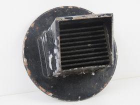 A WWII US headlamp blackout cover for a lorry. 20cm dia.