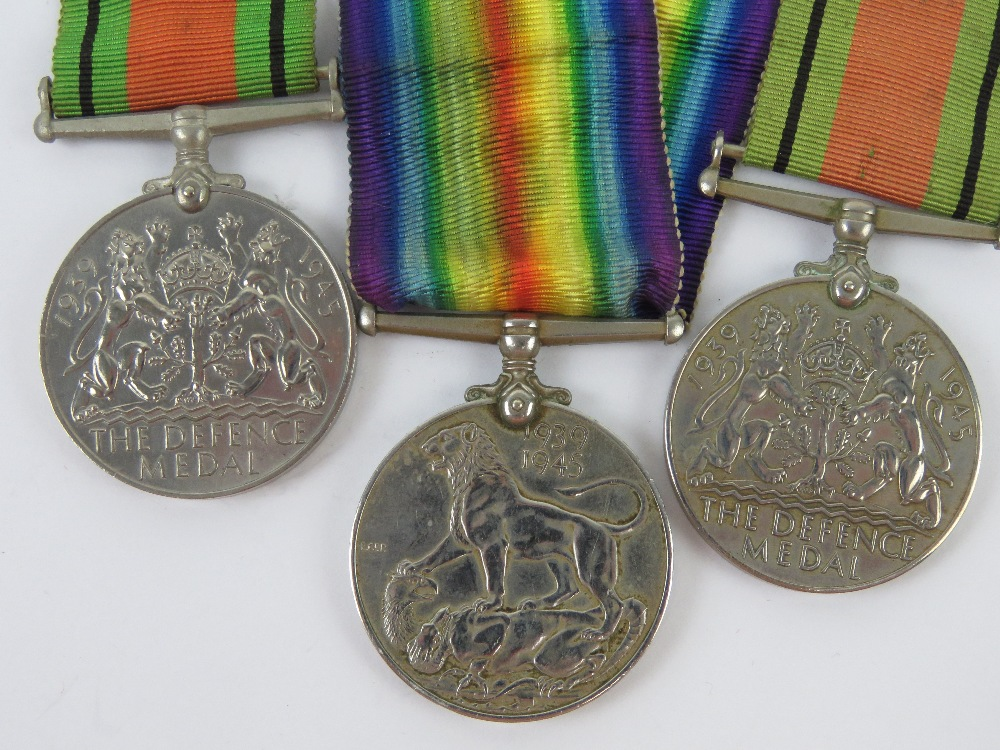 Two WWII medal pairs, each being War & Defence medals, one war medal engraved for 029373 PTE.R. - Image 6 of 6