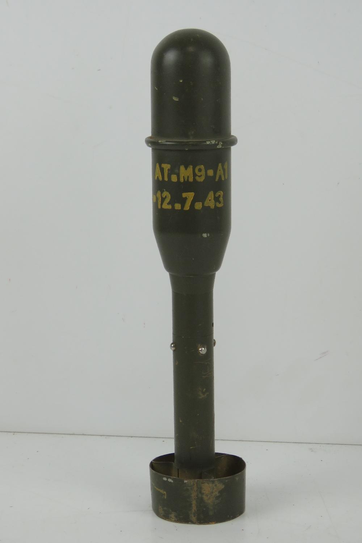 An inert US M9 Anti tank rifle grenade. 28cm in length. - Image 2 of 3