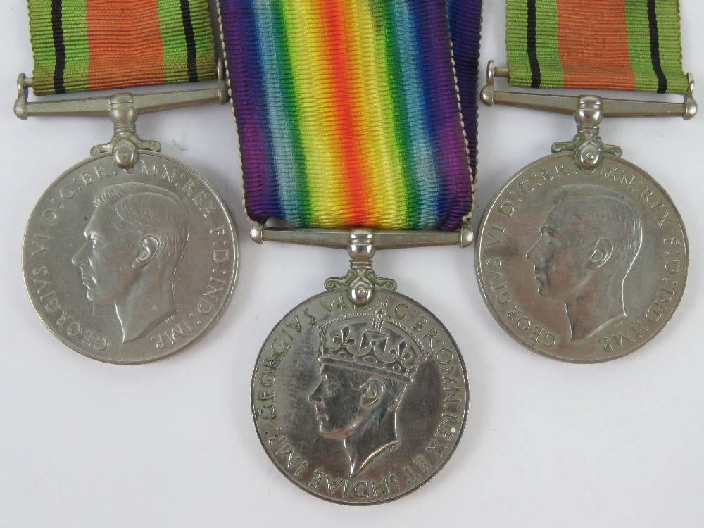 Two WWII medal pairs, each being War & Defence medals, one war medal engraved for 029373 PTE.R. - Image 5 of 6
