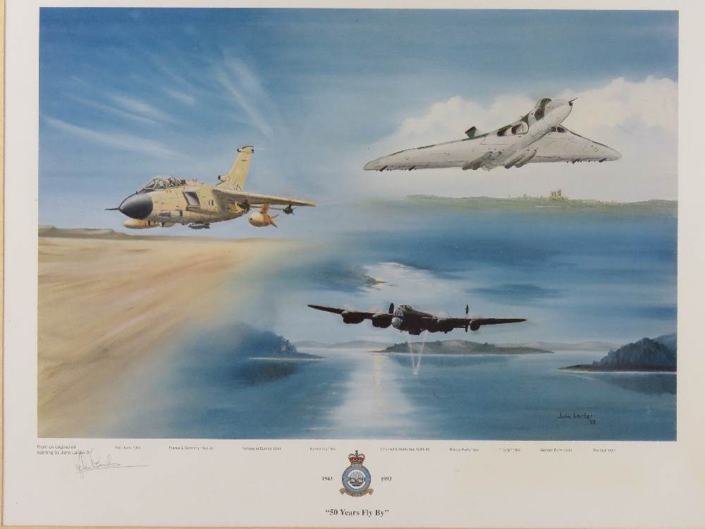 Signed print '50 Years Fly By' from an original oil painting by John Larder, - Image 2 of 4