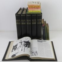 A quantity of assorted military themed books inc: 'Volumes 1-6 of the History of the 20th Century',
