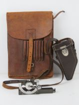 A WWII German map case dated 1936 with Frost and Jahnel makers mark,