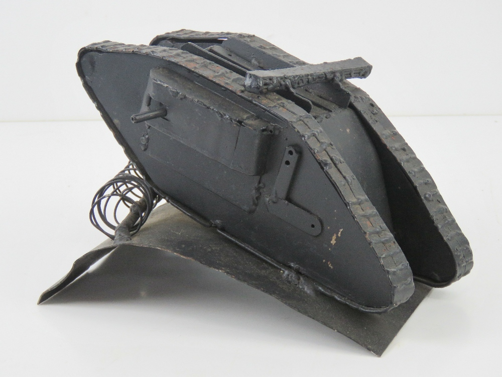 A contemporary metal model of a tank, 22 x 15 x 13cm. - Image 2 of 4