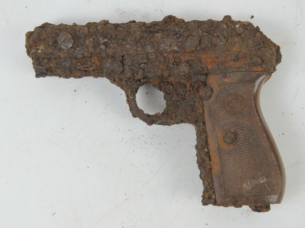 A German Officer's CZ27 pistol in relic condition. - Image 2 of 2