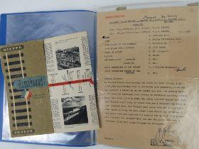 A quantity of 20thC ephemera inc post war ration books, postcards, identity cards, souvenir books,