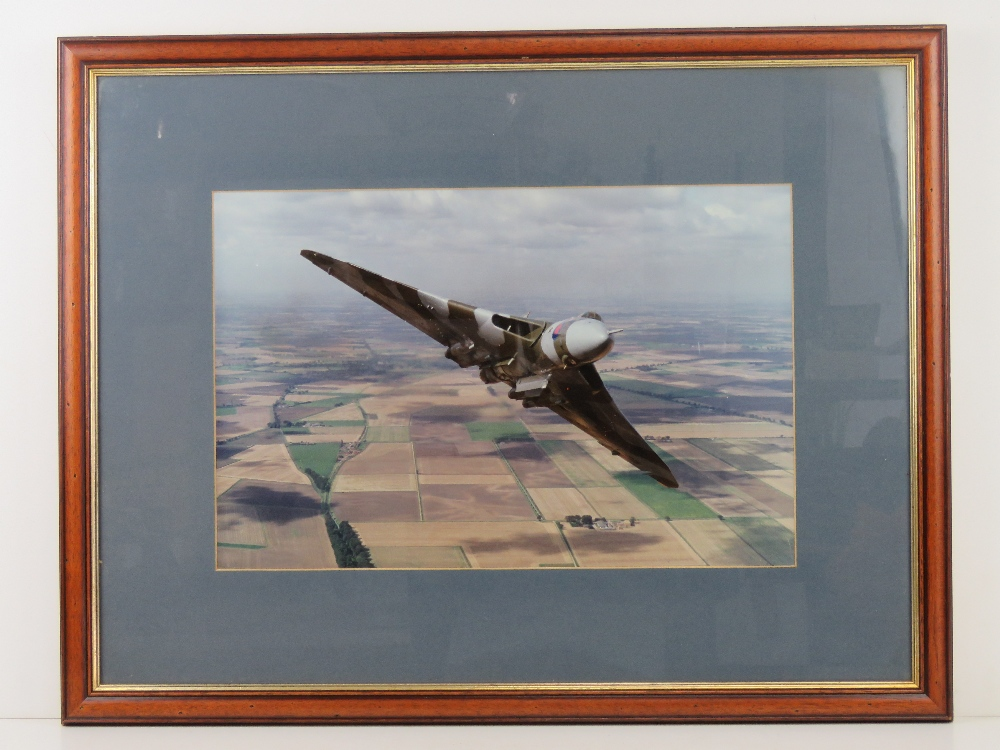 Photographic print; The RAFs Last Vulcan Bomber over Bruntingthorpe Airfield Leicestershire, 44.