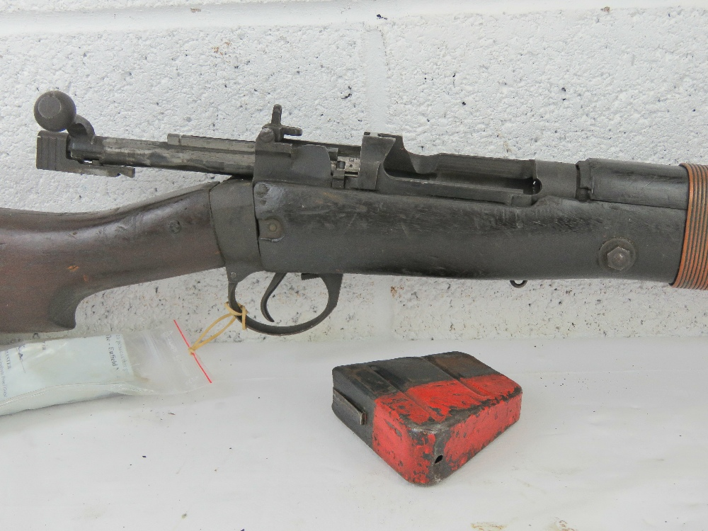 A deactivated Lee Enfield grenade launcher, having working bolt action. - Image 4 of 6