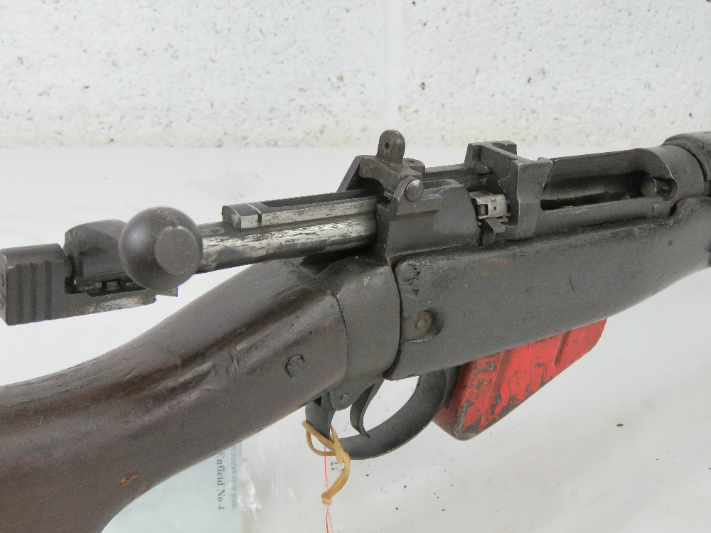 A deactivated Lee Enfield grenade launcher, having working bolt action. - Image 3 of 6