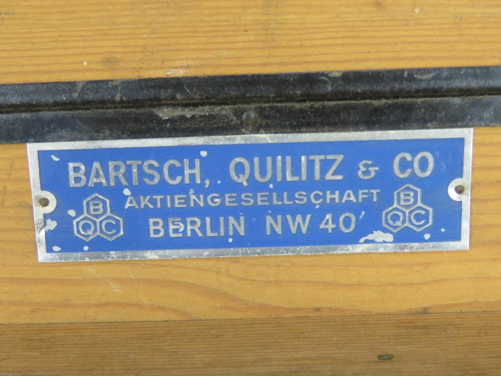 A WWII German Red Cross wooden transit case having metal end handles and bearing label Bartsch - Image 3 of 6