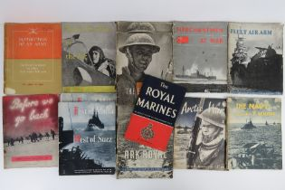 A quantity of WWII themed books inc; 'T