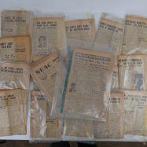 A quantity of SEAC newspaper articles (a