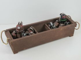 Twelve reproduction inert Mills grenades