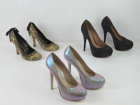 Three pairs of ladies heeled shoes inc b