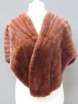 A vintage faux fur shawl, no apparent la