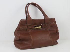 A brown leather Jane Shilton handbag 37