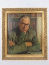 GHB (George) Holland (1901-1987), oil on canvas, half length portrait of the Composer William