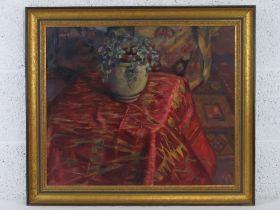 GHB (George) Holland (1901-1987), oil on board, a studio piece dated 1976 entitled 'Sewecio