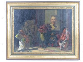 GHB (George) Holland (1901-1987), oil on canvas 'The Joker', depicting a mirrored reflection