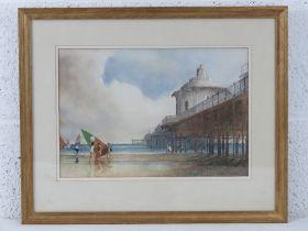 Oscar Almeida, watercolour entitled 'Dream of Brighton' c1985, depicting the underside of Brighton