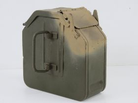 A WWII German MG34 75rd magazine, repainted, dated 1941, makers mark indistinct (brc?).