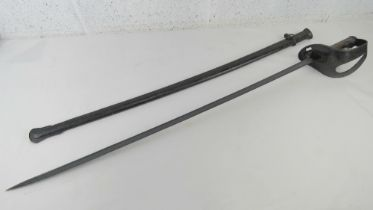 An Italian Model 1871/ 1909 Cavalry Trooper's Sword With Pipe Back Blade and Scabbard,