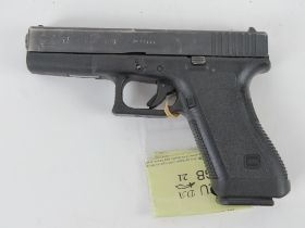 A deactivated Glock 17 9mm Second Generation Pistol. With EU certificate.