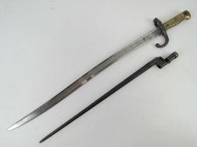 "A French Chassepot 1866 pattern sword engraved """"Mre d' Armes de St."