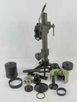 A British S10/ F12 gas mask repair/rebuild kit with accessories.