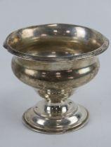 A HM silver single footed bonbon dish, a/f, 89.1g / 2.9ozt.