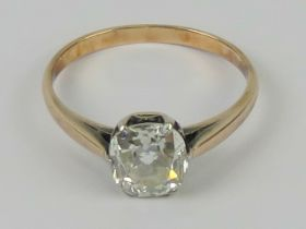 A superb 1.55ct solitaire cushion cut natural diamond ring having AnchorCert certificate (1.