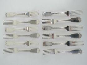 A set of twelve Victorian HM silver forks,