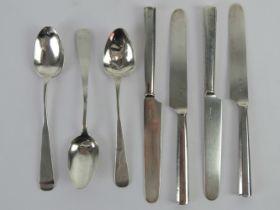 A set of four 19th century German butter knives bearing Hamburg hallmarks - Johanne HJ Wienick (E