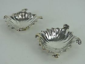 A delightful pair of late Victorian HM silver caviar dishes having makers mark for Harrison &
