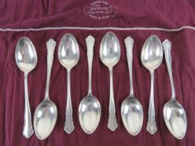 A set of eight HM silver table spoons by William Hutton & Sons Ltd, hallmarked for Sheffield 1935,
